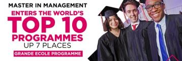 Financial Times ranking 2021: Strong showing for EDHEC's Master in Management